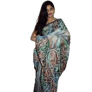 Designer Boutique Chanderi Silk Saree Diwali Gift