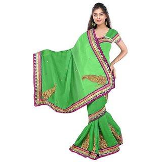 Siffon sarees (Green)