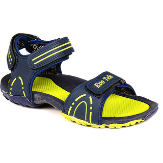 Hm-Evotek Synthetic Leather Floater Sandals For Men - DK 1 NAVY