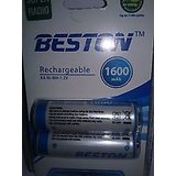 BESTON RECHARGEABLE BATTERY 1800 Mah Ni-MH AA 1. 2 V  BATTERIES FOR CAMERA TOYS