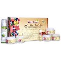 Nutriglow AHA Fruit Facial Kit with free NutriGlow Green Apple Skin Toner