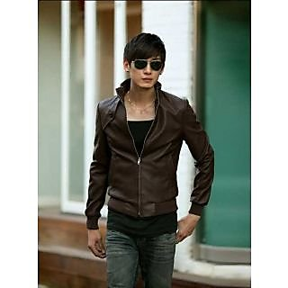 P007 - Italiano TUCCI Vintage Slim Fit  Men's Designer Semi Leather Jacket