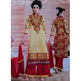 7f59920aa1 PranjiWears[1006] Embroidered Semi Stitched Long length Suit with ...