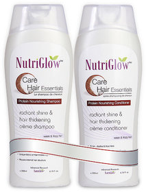 Nutriglow Protein Nourishing Shampoo & Conditioner Combo- For Weak & Frizzy Hair