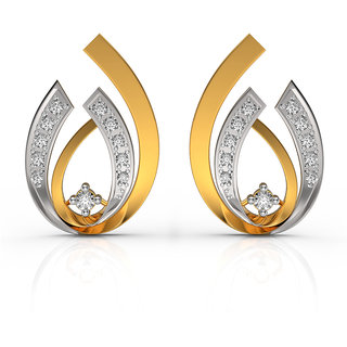 Charu Jewels Eugenia 18k Gold Natural Diamond Earring