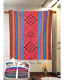 Brown,Red Face Towels  Combo Of 4
