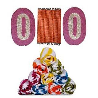 Iliv Cotton Multicolor Face Towels (12X18 Inch) Combo Of 9