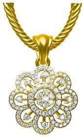 Sakshi Jewels 2.55 Gram 18K Gold 0.43 Carat VVS-FG Diamond Pendant.