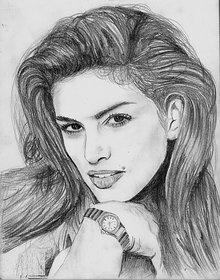 Beautiful girls's sketch