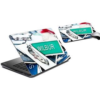 meSleep Wilbur Laptop Skin And Mouse Pad