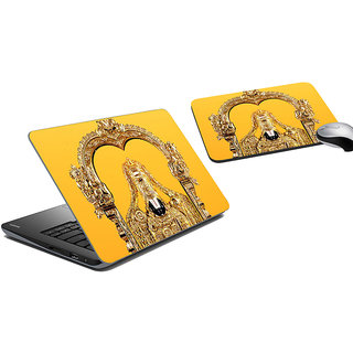 meSleep Tirupathi Laptop Skin And Mouse Pad