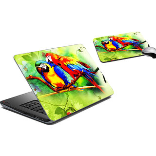 meSleep Birds Laptop Skin And Mouse Pad
