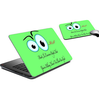 meSleep Eyes Laptop Skin And Mouse Pad