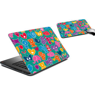 meSleep Figurines Laptop Skin And Mouse Pad