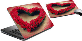 MeSleep Heart Rose Laptop Skin And Mouse Pad