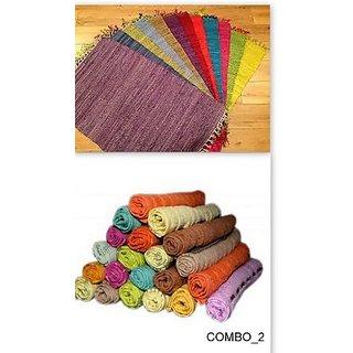 cotton door mat set of 2  5 face towel