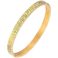 The jewelbox men stainless steel gold plated tiger free size kada bracelet