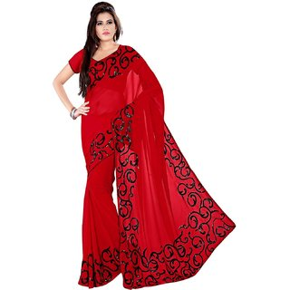 Women Saree in Red Color