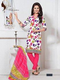 Fantastic floral printed dress material