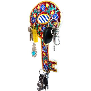 Decorative Handmade Key stand - Colourful Meenakari