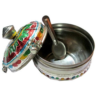 Decorative Multi-purpose Mukhwaas / Jewellery Box - Meenakari Art