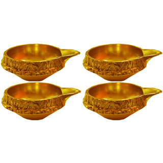 Kuber Diya - Pure Brass - Set of 4