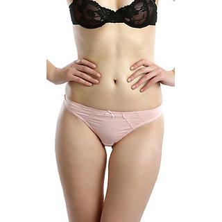 Clovia Comfort Thong In  Pink