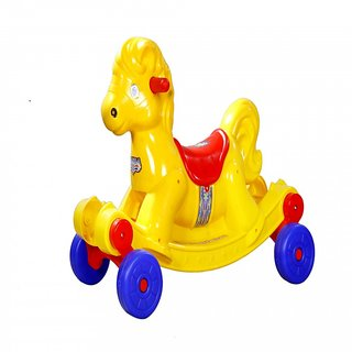 Panda Yellow Musical Rocking Horse