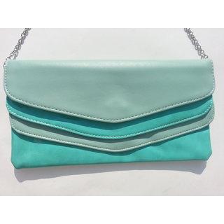 Designer Ladies Stylish Fashion Trendy Handbag Purse Clutch Sling Green