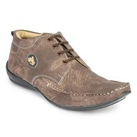 Foot N Style Men's Brown Lace-Up Casual Shoes