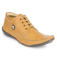 Foot N Style Men's Tan Lace-Up Casual Shoes