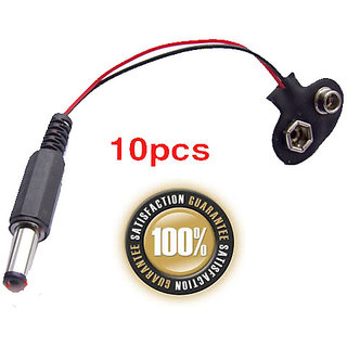 9V Button Cable TO 9MM 5.5MM 2.5mm DC Power Plug 10PCS