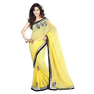 Kashish Lifestyle High Embroidered Fashion Party Saree SFSANSKRITI21137