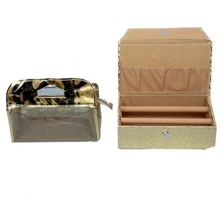 Golden bangle Box 2 rod & Vanity Box 2 pcs Combo