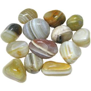 Prisha Banded Agate  Decorative Stones (0.5 Kg)