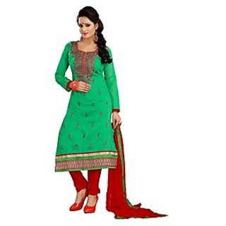 Florence Green Rangoli Georgette Embroidered Suit