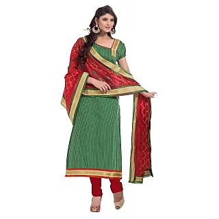 Florence Green Armaan Chanderi Embroidered Suit (Unstitched)