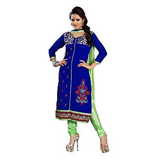 Florence Blue Rangoli Georgette Embroidered Suit