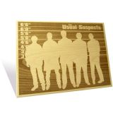 Engrave The Usual Suspects Plaque Epgh004us1