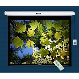7X5 sq.ft. SWASTIK BRAND Motorised Projector Screen - A + + Grade (IMPORT USA) UV TECHNICS FABRICS 5 LAYERS COTED FOR EXCELLENT RESULT