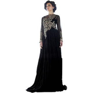 Traditional Prom Gown Indian Evening Dresses Women Wedding Dress Black