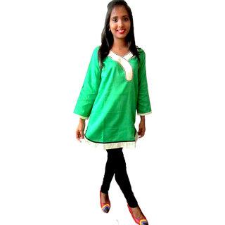 Green short kurti