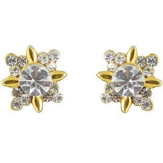 Touchstone Sparkling AD Spike Earrings