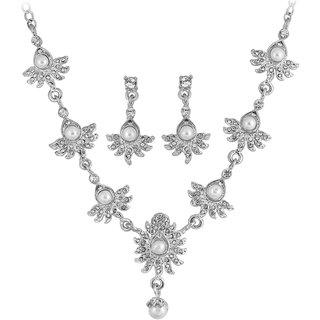 Touchstone Silver Necklace Set (PWNSL013-01AP-W)