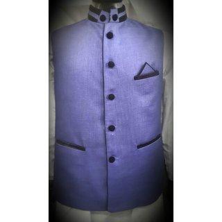 Sleeveless Nehru Purple Jacket