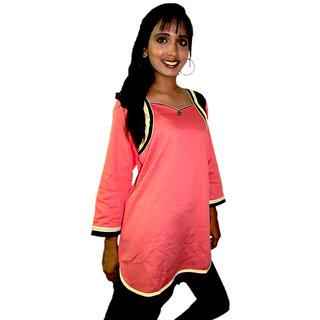 Pink short kurti
