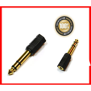 6.35mm 1/4 Stereo Plug to 3.5mm Stereo Jack Adapter Converter Connector