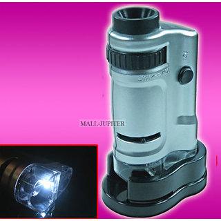 20X - 40X LED Pocket Illuminated Magnifier Magnifying Glass Microscope -01