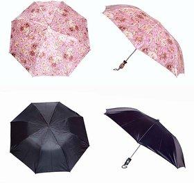 iLiv Printed & Black Umbrella Combo