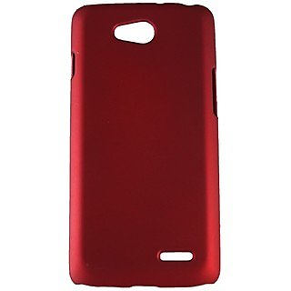 Fcs Rubberised Hard Back Case For Lg Optimus L70 In Matte Finish-Red